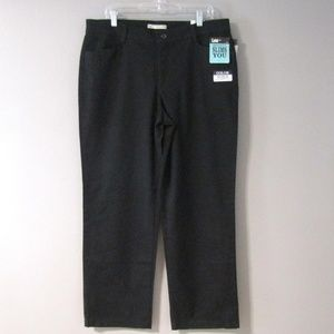 NEW Lee Stretch Black Straight Leg Chino's Pants